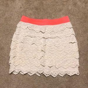 Forever21 Lace Ruffle Mini Skirt Forever 21